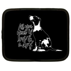 Dog Person Netbook Case (xxl)  by Valentinaart