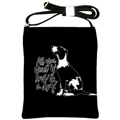 Dog Person Shoulder Sling Bags by Valentinaart