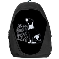 Dog Person Backpack Bag by Valentinaart