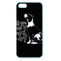 Dog Person Apple Seamless Iphone 5 Case (color) by Valentinaart