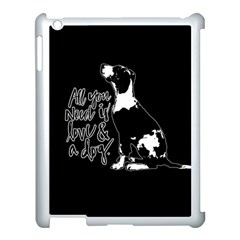 Dog Person Apple Ipad 3/4 Case (white) by Valentinaart