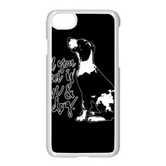 Dog Person Apple Iphone 7 Seamless Case (white) by Valentinaart