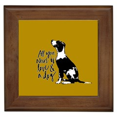 Dog Person Framed Tiles by Valentinaart