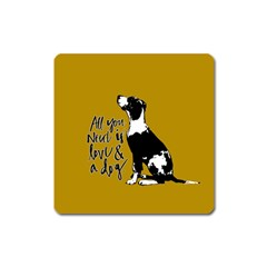 Dog Person Square Magnet by Valentinaart