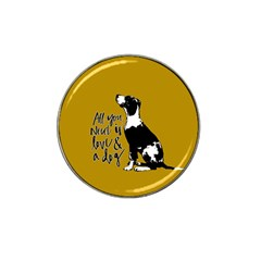 Dog Person Hat Clip Ball Marker by Valentinaart