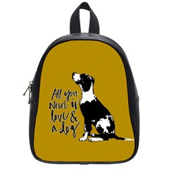 Dog Person School Bags (small)  by Valentinaart