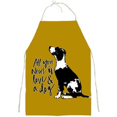 Dog Person Full Print Aprons by Valentinaart
