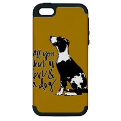 Dog Person Apple Iphone 5 Hardshell Case (pc+silicone) by Valentinaart