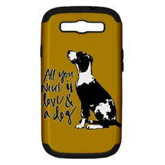 Dog Person Samsung Galaxy S Iii Hardshell Case (pc+silicone) by Valentinaart