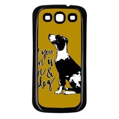 Dog Person Samsung Galaxy S3 Back Case (black) by Valentinaart