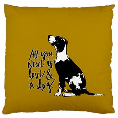 Dog Person Large Flano Cushion Case (one Side) by Valentinaart
