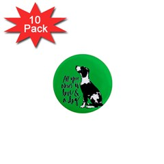 Dog Person 1  Mini Magnet (10 Pack)  by Valentinaart