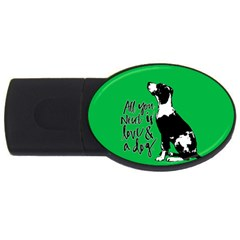 Dog Person Usb Flash Drive Oval (2 Gb) by Valentinaart