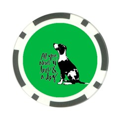 Dog Person Poker Chip Card Guard by Valentinaart