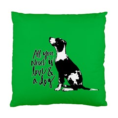 Dog Person Standard Cushion Case (two Sides) by Valentinaart