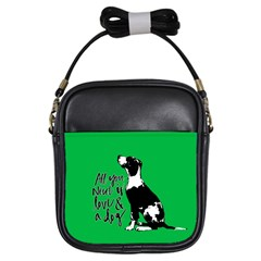 Dog Person Girls Sling Bags by Valentinaart