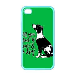 Dog Person Apple Iphone 4 Case (color) by Valentinaart