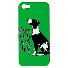 Dog Person Apple Iphone 5 Hardshell Case by Valentinaart