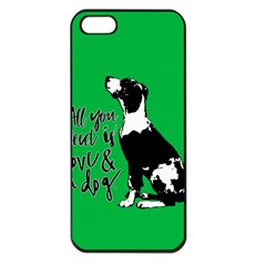Dog Person Apple Iphone 5 Seamless Case (black) by Valentinaart