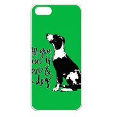Dog Person Apple Iphone 5 Seamless Case (white) by Valentinaart