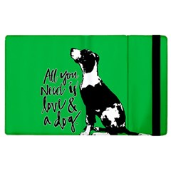 Dog Person Apple Ipad 3/4 Flip Case by Valentinaart