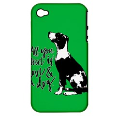 Dog Person Apple Iphone 4/4s Hardshell Case (pc+silicone) by Valentinaart