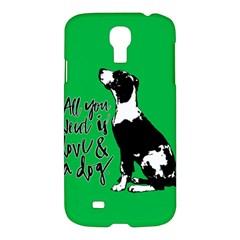 Dog Person Samsung Galaxy S4 I9500/i9505 Hardshell Case by Valentinaart