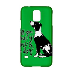 Dog Person Samsung Galaxy S5 Hardshell Case  by Valentinaart
