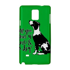 Dog Person Samsung Galaxy Note 4 Hardshell Case by Valentinaart
