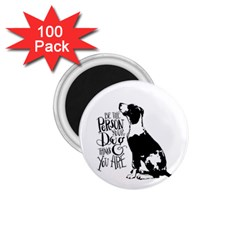 Dog Person 1 75  Magnets (100 Pack)  by Valentinaart