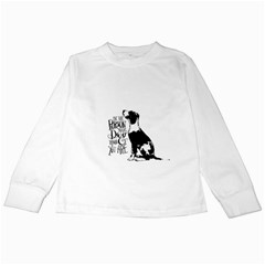 Dog Person Kids Long Sleeve T Shirts by Valentinaart
