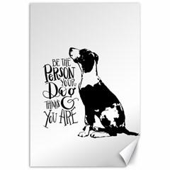 Dog Person Canvas 24  X 36  by Valentinaart