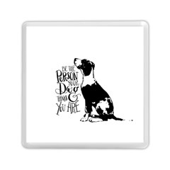 Dog Person Memory Card Reader (square)  by Valentinaart