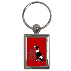 Dog Person Key Chains (rectangle)  by Valentinaart
