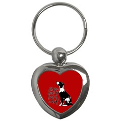 Dog Person Key Chains (heart)  by Valentinaart