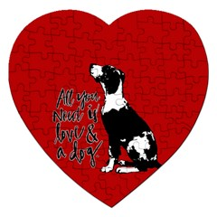 Dog Person Jigsaw Puzzle (heart) by Valentinaart