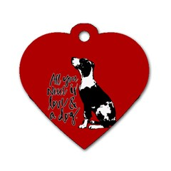Dog Person Dog Tag Heart (two Sides) by Valentinaart