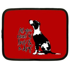 Dog Person Netbook Case (large) by Valentinaart