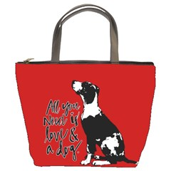 Dog Person Bucket Bags by Valentinaart