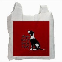 Dog Person Recycle Bag (one Side) by Valentinaart