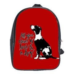 Dog Person School Bags(large)  by Valentinaart