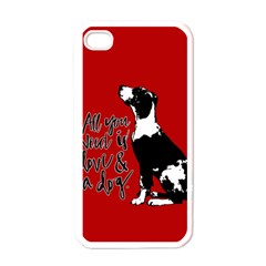 Dog Person Apple Iphone 4 Case (white) by Valentinaart