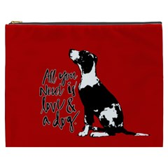 Dog Person Cosmetic Bag (xxxl)  by Valentinaart