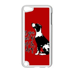 Dog Person Apple Ipod Touch 5 Case (white) by Valentinaart