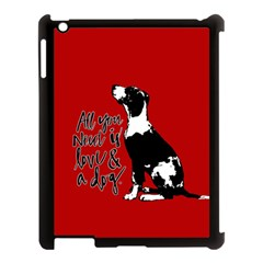 Dog Person Apple Ipad 3/4 Case (black) by Valentinaart