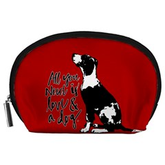 Dog Person Accessory Pouches (large)  by Valentinaart