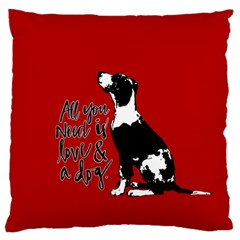 Dog Person Standard Flano Cushion Case (one Side) by Valentinaart