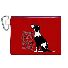 Dog Person Canvas Cosmetic Bag (xl) by Valentinaart