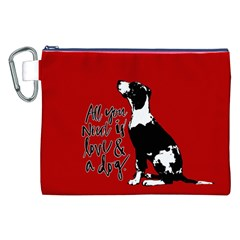 Dog Person Canvas Cosmetic Bag (xxl) by Valentinaart
