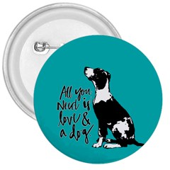 Dog Person 3  Buttons by Valentinaart